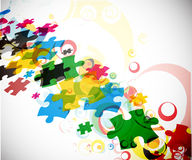 Parties abstraites de puzzle Photos stock