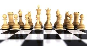 Parties blanches de jeu d'échecs illustration libre de droits