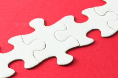 Parties blanches de puzzle Image stock