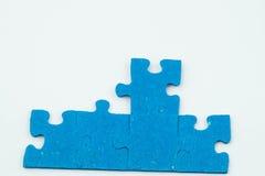 Parties bleues de puzzle image libre de droits