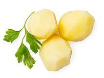 Parties bouillies de pomme de terre avec le persil image libre de droits