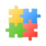 Parties colorées de puzzle Photographie stock libre de droits