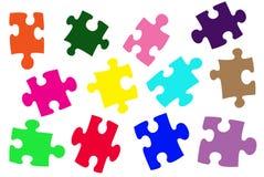 Parties colorées de puzzle Image libre de droits
