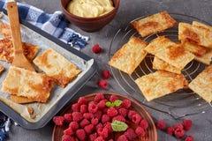 Parties cuites au four de pâte feuilletée, plan rapproché Photographie stock libre de droits