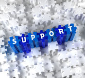 Parties 3D créatives de puzzle et de mot SUPPORT Images libres de droits