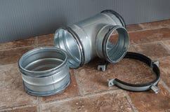 Parties d'installation de ventilation, plan rapproché Image libre de droits