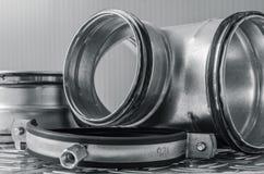 Parties d'installation de ventilation, plan rapproché photographie stock