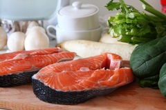 Parties d'un saumon Photo libre de droits