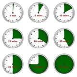 Parties d'une heure image libre de droits