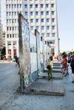 Parties de Berlin Wall sur Potsdamer Platz. Berlin, Allemagne Images stock
