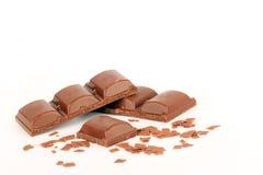 Parties de chocolat Image libre de droits