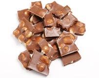 Parties de chocolat Photo stock