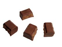 Parties de chocolat photos stock