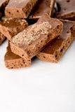 Parties de chocolat aéré par lait Image stock