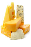 Parties de fromage Photographie stock