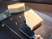Parties de fromage Photographie stock libre de droits