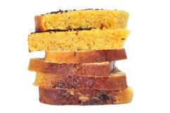 Parties de gâteau photographie stock
