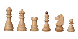 Parties de jeu d'échecs Photo libre de droits
