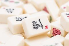 Parties de jeu de société de Mahjong Images libres de droits
