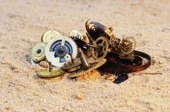 Parties de mécanisme de rouage d'horloge Photographie stock libre de droits