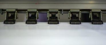 Parties de media imprimant la photographie d'actions de Machineries Image libre de droits