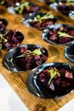 parties de Morsure-taille de salade de betterave Photos stock