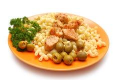 parties de pâtes de persil frites par poulet Photos stock