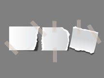 Parties de papier déchiré Photographie stock libre de droits