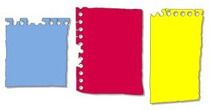 Parties de papier de bloc-notes Photographie stock libre de droits