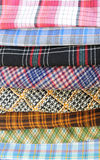 Parties de plaid de tissu Photographie stock