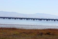 Parties de pont en rail de Dumbarton, la Californie, Etats-Unis Image libre de droits