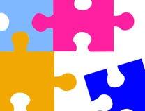 Parties de puzzle illustration de vecteur