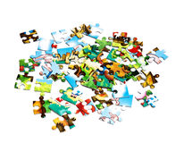 Parties de puzzle Photo libre de droits