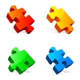 Parties de puzzle. Photo libre de droits
