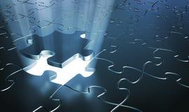 Parties de puzzle Photos libres de droits