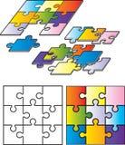Parties de puzzle Photos stock