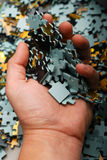Parties de puzzle Photographie stock