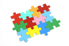 Parties de puzzle denteux Images stock