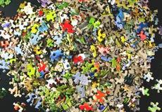 Parties de puzzle denteux Images libres de droits