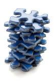 Parties de puzzle denteux Photographie stock libre de droits