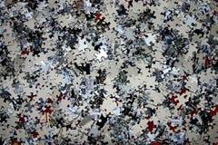 Parties de puzzle denteux Photos stock