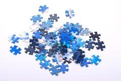 Parties de puzzle denteux Images stock