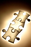 Parties de puzzle denteux photo libre de droits