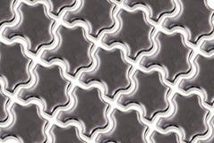Parties de puzzle en métal Images stock