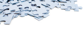 Parties de puzzle sur le fond blanc photo libre de droits