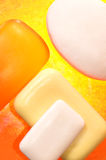 Parties de savon Photographie stock