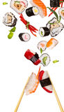 Parties de sushi Photographie stock