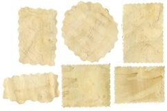 Parties de vieux papier Photo libre de droits