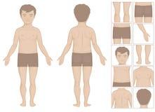 Parties du corps d'enfant illustration stock