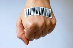 PARTIES DU CORPS ET code à barres Photographie stock libre de droits